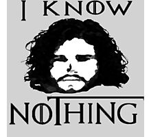 I KNOW NOTHING! Photographic Print
