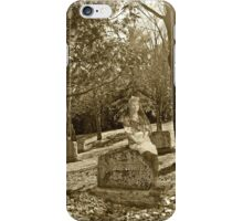 Girl on a Gravestone iPhone Case/Skin