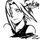 【4300+ views】NARUTO: Sakura T-shirt in Black by Ruo7in