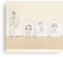 drawings on small cardboard tabs Canvas Print