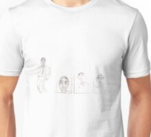 drawings on small cardboard tabs Unisex T-Shirt