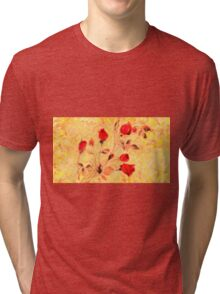 Silky Red Roses Tri-blend T-Shirt