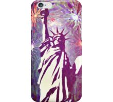 Statue Liberty 4th of July Fireworks 2a iPhone Case/Skin