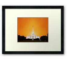 Jordan River Temple Orange Sunset 20x24 Framed Print