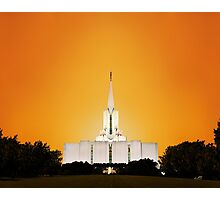 Jordan River Temple Orange Sunset 20x24 Photographic Print