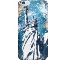 Statue Liberty 4th of July Fireworks iPhone Case/Skin