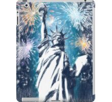 Statue Liberty 4th of July Fireworks iPad Case/Skin