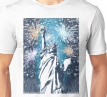 Statue Liberty 4th of July Fireworks Unisex T-Shirt