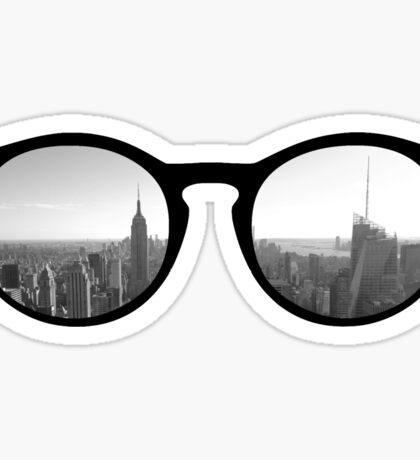 new york skyline sunglasses Sticker
