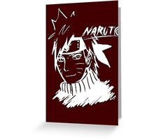 【1800+ views】NARUTO: Naruto T-shirt in White Greeting Card