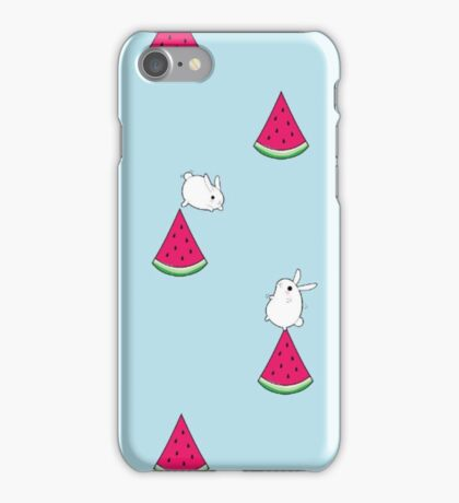 Watermelon & rabbits iPhone Case/Skin