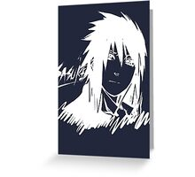【1800+ views】NARUTO: Sasuke T-shirt in White Greeting Card