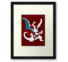 【23100+ views】Pokemon Charmander>Charmeleon>Charizard Framed Print