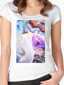 Agate Rocks, Slices of Earth Women's Fitted Scoop T-Shirt