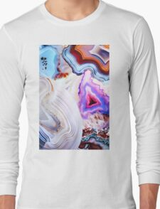 Agate Rocks, Slices of Earth Long Sleeve T-Shirt