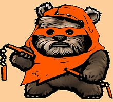 EWOK MICHAELANGELO by greatbritton99