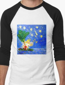 Angel in the Tropics Designer Art Decor & Gifts Men's Baseball ¾ T-Shirt