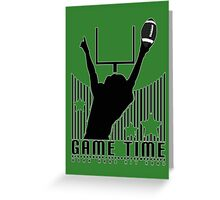 Game Time - Football (Green) Greeting Card