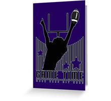 Game Time - Football (Purple) Greeting Card
