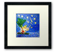 Angel in the Tropics Designer Art Decor & Gifts Red Framed Print