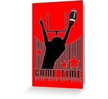 Game Time - Football (Red) Greeting Card
