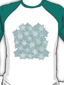 winter background with white snowflakes T-Shirt