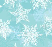 Seamless winter background with white snowflakes Sticker