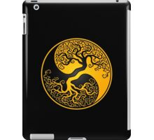 Yellow and Black Tree of Life Yin Yang iPad Case/Skin