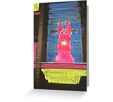 bunny building two Greeting Card