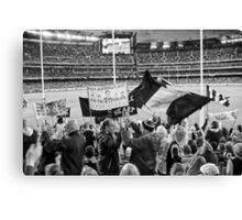 Cheer squad, Melbourne Cricket Ground Canvas Print