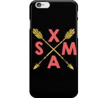 Golden Xmas Arrows iPhone Case/Skin