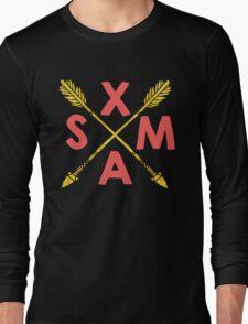 Golden Xmas Arrows Long Sleeve T-Shirt