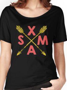 Golden Xmas Arrows Women's Relaxed Fit T-Shirt