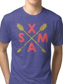 Golden Xmas Arrows Tri-blend T-Shirt