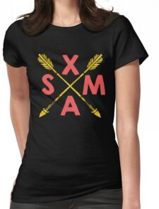 Golden Xmas Arrows Womens Fitted T-Shirt