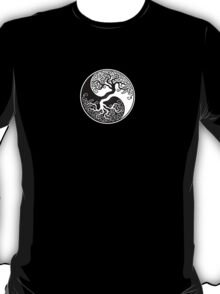 White and Black Tree of Life Yin Yang T-Shirt