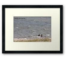 Boys will be boys (Young men)  Framed Print
