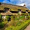 Thatched Cottages with pretty gardens
