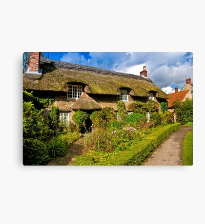 Country Cottage - North Yorkshire. Canvas Print