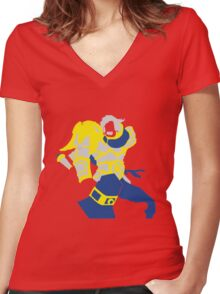 Uther Hearthsone Pop Style Women's Fitted V-Neck T-Shirt