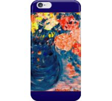 Romance Flowers in Blue Vase Designer Decor & Gifts iPhone Case/Skin