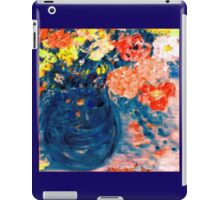 Romance Flowers in Blue Vase Designer Decor & Gifts iPad Case/Skin
