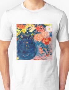 Romance Flowers in Blue Vase Designer Decor & Gifts T-Shirt