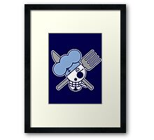 【2600+ views】ONE PIECE: Jolly Roger of Sanji Framed Print