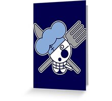 【2600+ views】ONE PIECE: Jolly Roger of Sanji Greeting Card
