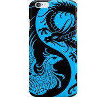 Blue and Black Dragon Phoenix Yin Yang iPhone Case/Skin