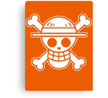 【4000+ views】ONE PIECE: Jolly Roger of Straw Hat III Canvas Print