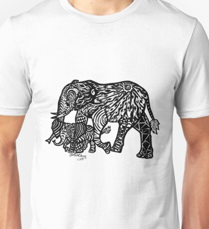 Doodle Ellie and Mommy Unisex T-Shirt