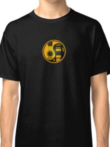Yellow and Black Acoustic Electric Guitars Yin Yang Classic T-Shirt