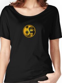 Yellow and Black Acoustic Electric Guitars Yin Yang Women's Relaxed Fit T-Shirt